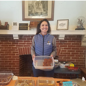 Volunteering at Gilmanton Iron Works Library's bake sale